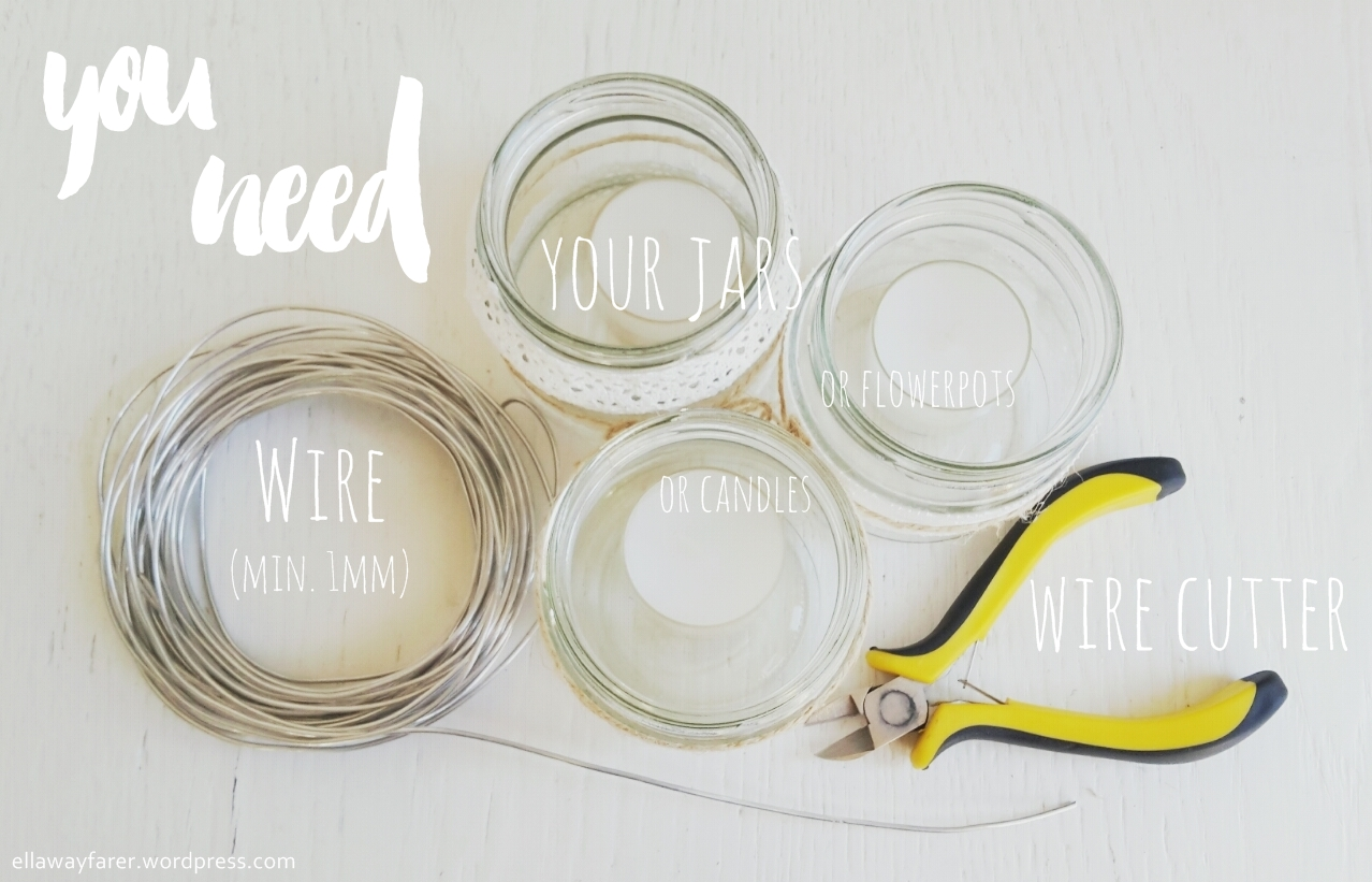 HOW TO HANG UP JARS you need