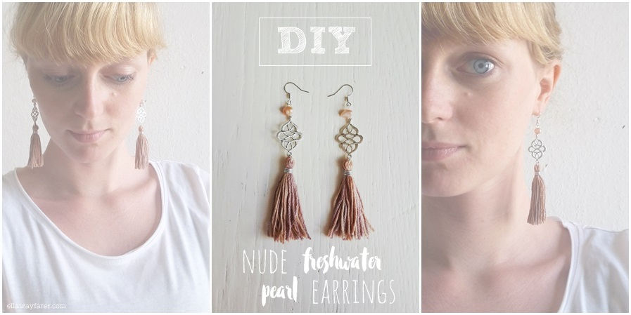silver antique tassel earrings with freshwater pearls boho chic