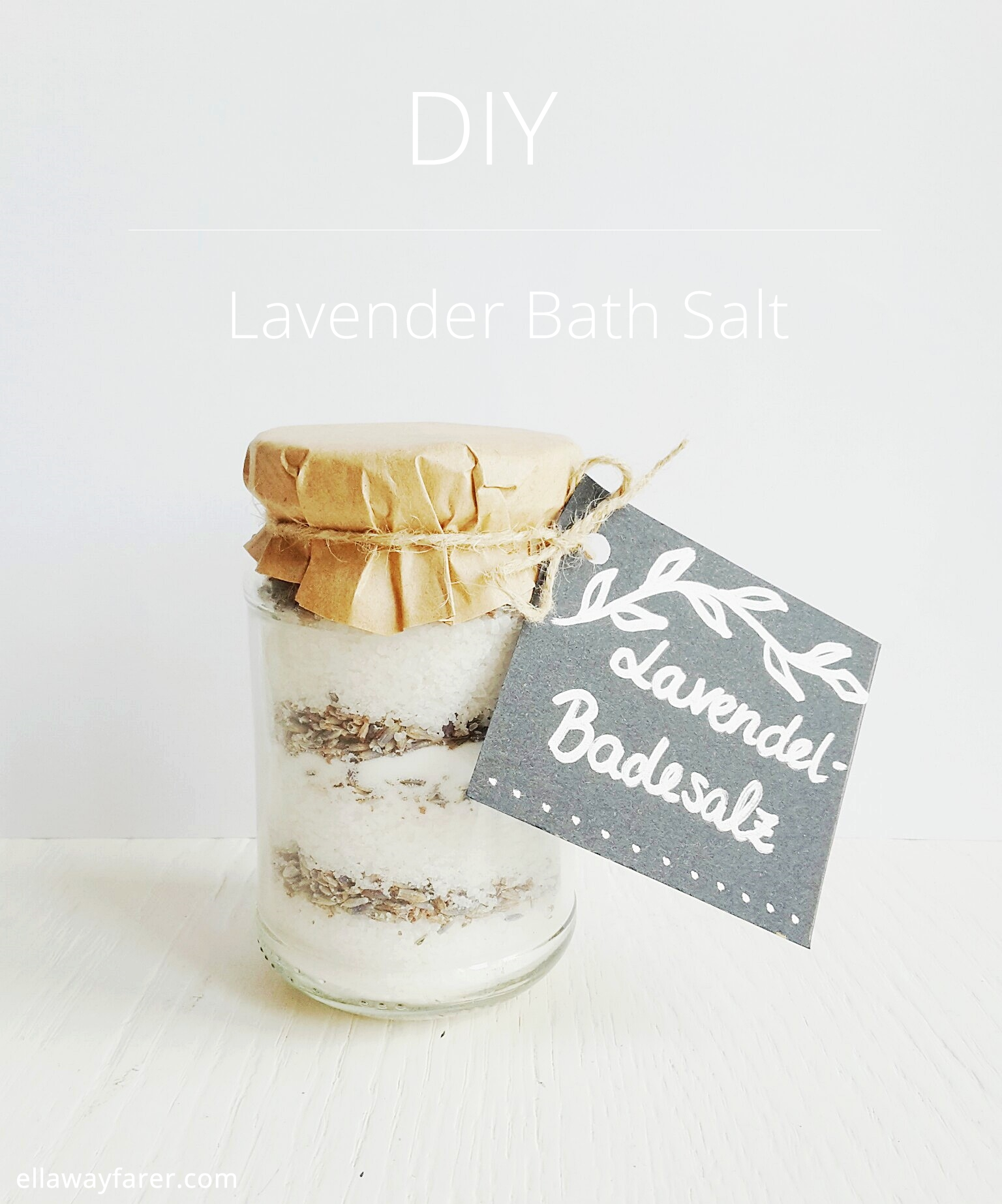 DIY | Relaxing Lavender Bathing Salts| www.ellawayfarer.com