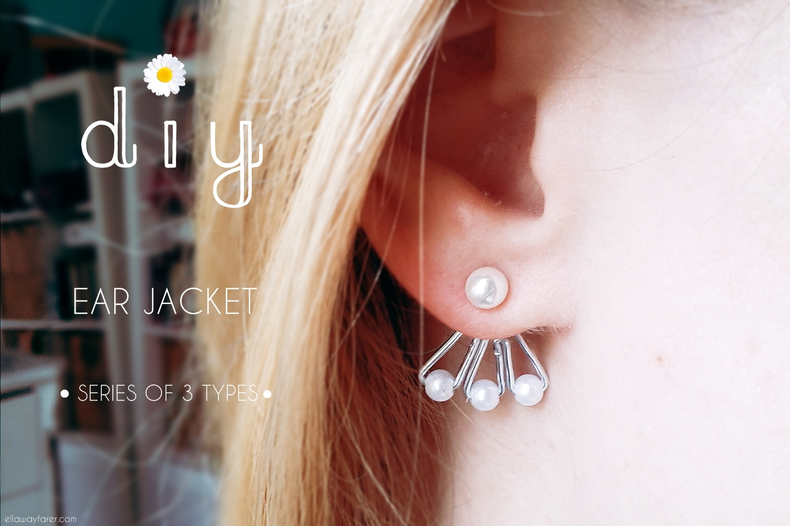 Ear Jacket DIY with Pearls