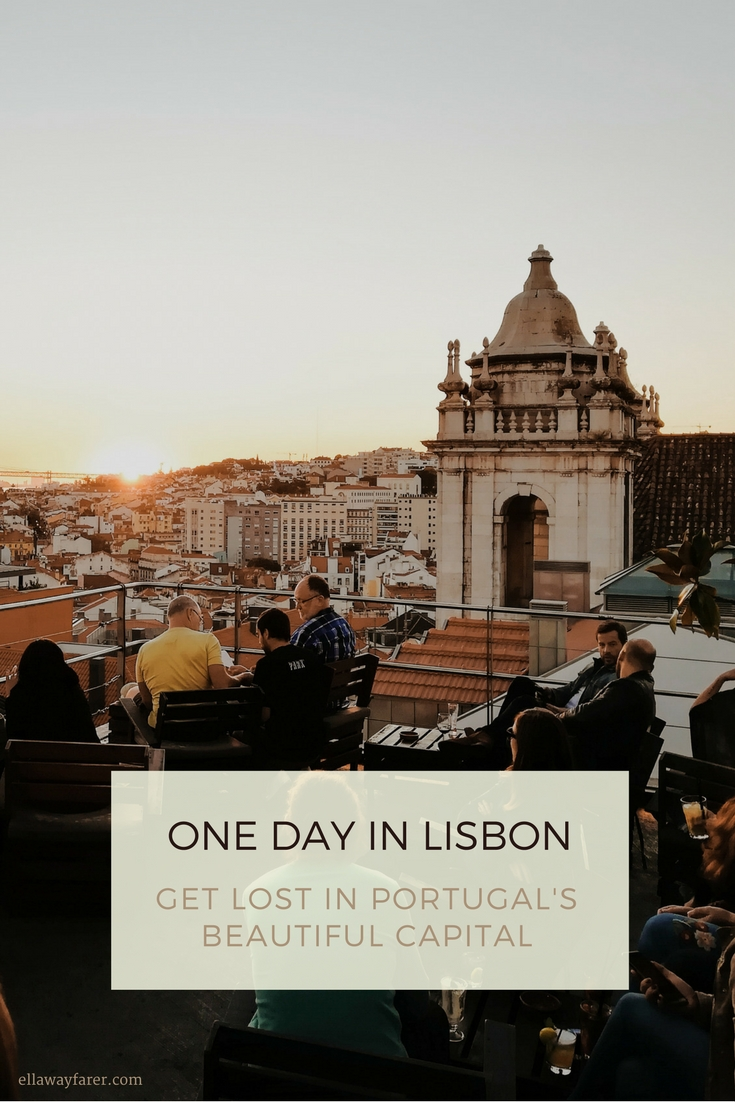 One day in Lisbon - Rooftop Bar Sundown